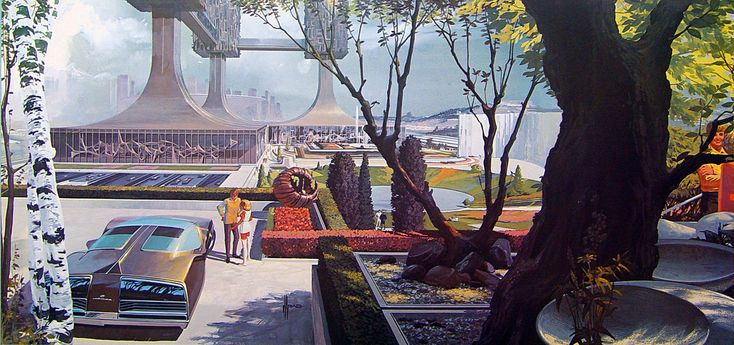 Syd Mead: U.S. Steel Interface - a portfolio of probabilities, 1969 - Post-and-Beam Residence