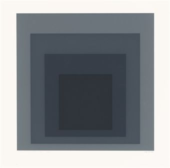 Josef Albers, Gray Instrumentation I, Tyler Graphics, Mount Kisco, New York, 1975 (D. 225)