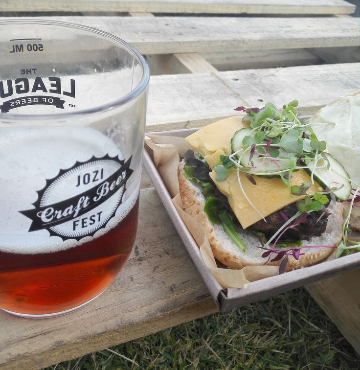Some great food was had at the Jozi Craft Beer Fest! And some awesome beer. Perfect time to relax. #CraftBeer #JoziCraftBeerFest #Joburg #Johannesburg #CraftBeerFest #Beer  #craftfood #Burger