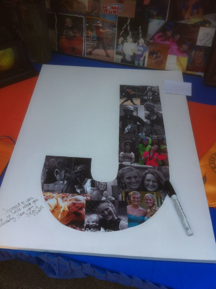 Canvas with pics for senior graduation party