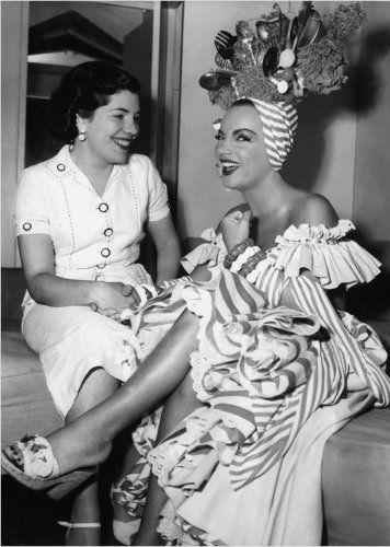 Image detail for -Carmen Miranda com a jornalista brasileira Dulce Damasceno de Brito