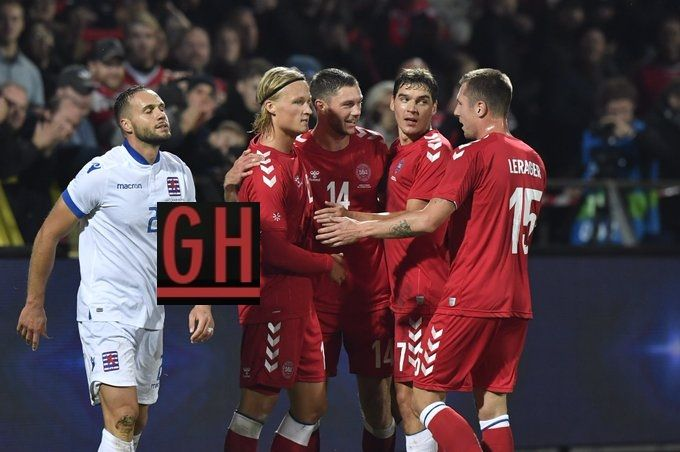 Denmark 4 0 Luxembourg Football Today Luxembourg Denmark