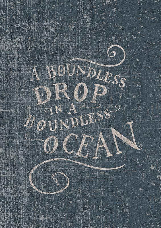 A boundless drop in a boundless ocean by Carmine Bellucci, via Behance