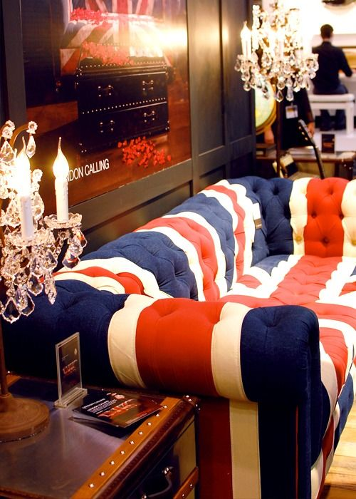 Oh my!  A Chesterfield AND the Union Jack....a sofa made from my obsessions.