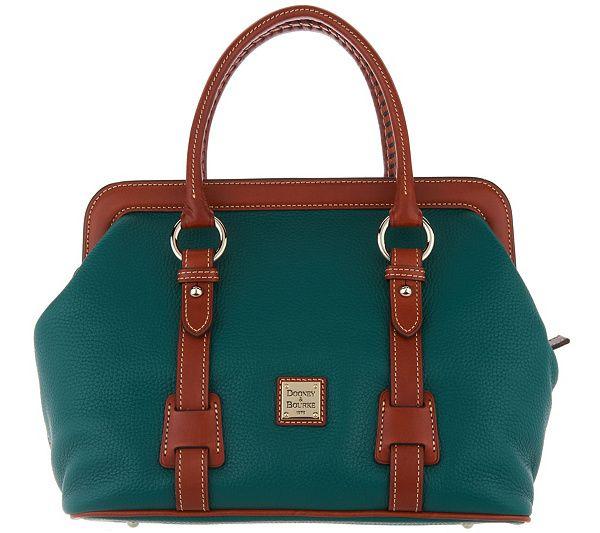 d6cbb360b71 Dooney   Bourke Pebble Leather Satchel Handbag - Mitchell - Page 1 — QVC.com