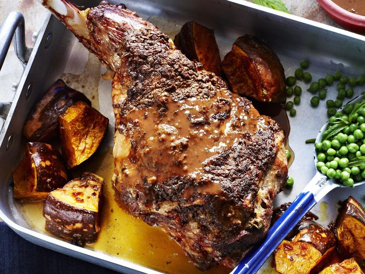 A lamb roast is heaven in a baking dish. We served ours with roasted pumpkin and peas. You can use any vegetables you like.