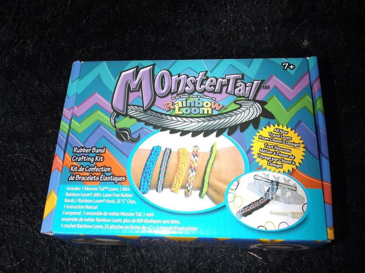 new Rainbow loom Monster tail bracelet kit jewelry making slumber party 629 pcs #ChoonsDesign