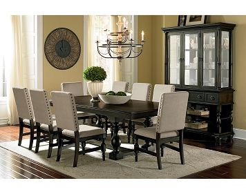 We Are Loving This Beautiful And Classical Dining Room Set The Nailhead Trim Looks Perfect