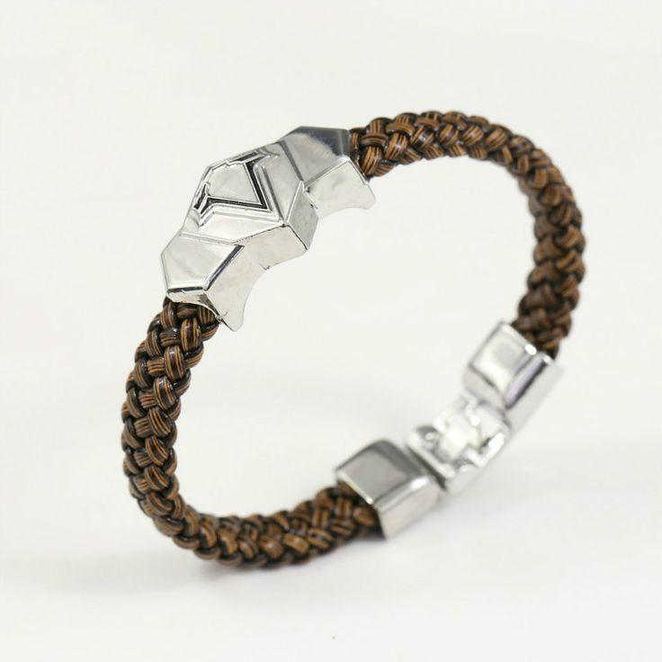 Assassins creed logo bracelet leather wristbands
