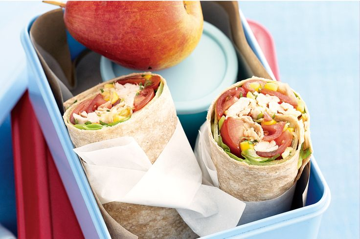 Fill the lunch-boxes with these tasty chicken wraps - the kids will thank you for it!