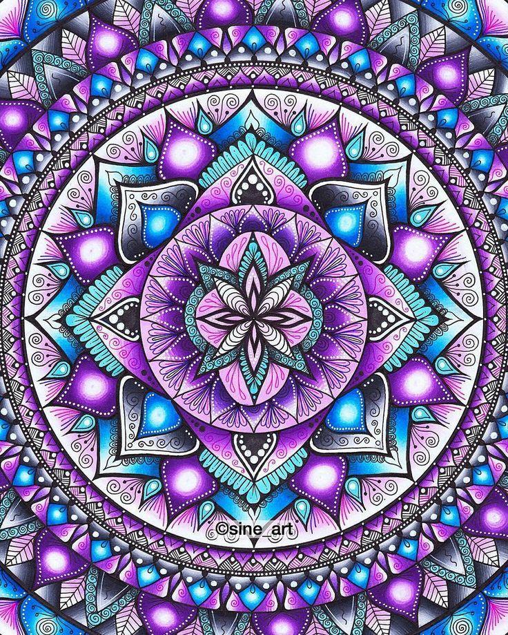 Mandala via Mandalala - Instagram from Sine_Art