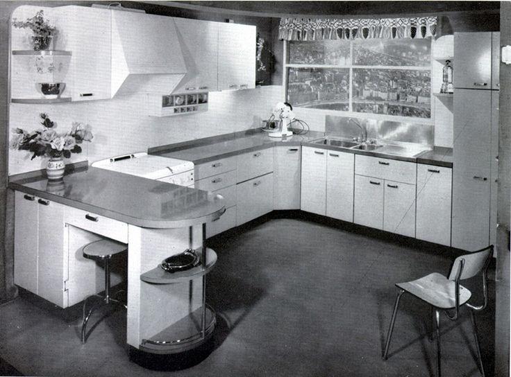 Cuisine Anne 1950 : Les meilleures images à propos de cuisine avec bar sur
