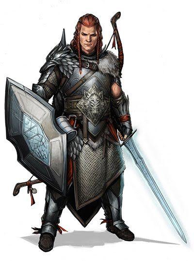 Pathfinder Fighter_Male Human Warrior | Digital Fiction ...