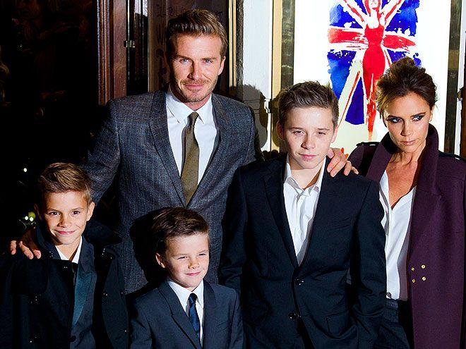 PARTY OF FIVE photo | David Beckham, Victoria Beckham-  December 2012