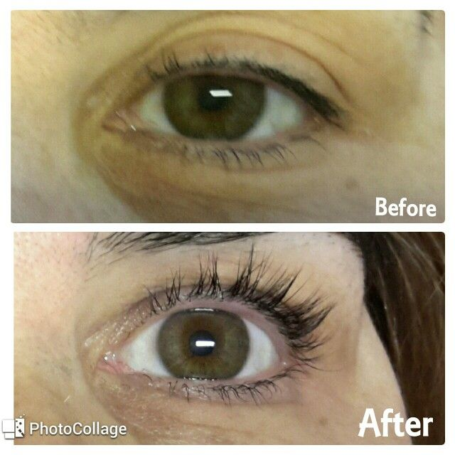 Permanent Curling and coloring eyelash