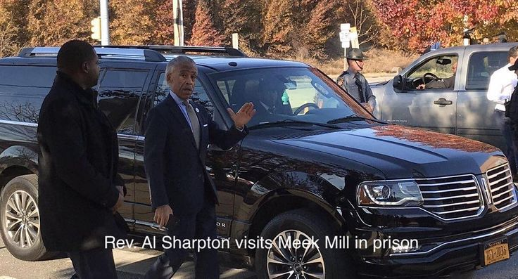 Rev. Al Sharpton visits Meek Mill in Pennsylvania prison #FACTS NOV. 28 2017. Locked-up rapper #MeekMill sounds strong and determined to spotlight the #injustice of a system that tossed him in prison the Rev. Al Sharpton said Monday.  #Sharpton was speaking with reporters right after visiting Mill for an hour in a Chester Pa. prison.  Mill 30 is serving a two- to four-year sentence for a probation violation spurred by two arrests where the charges were dropped. He is a symbol of the abuse of…