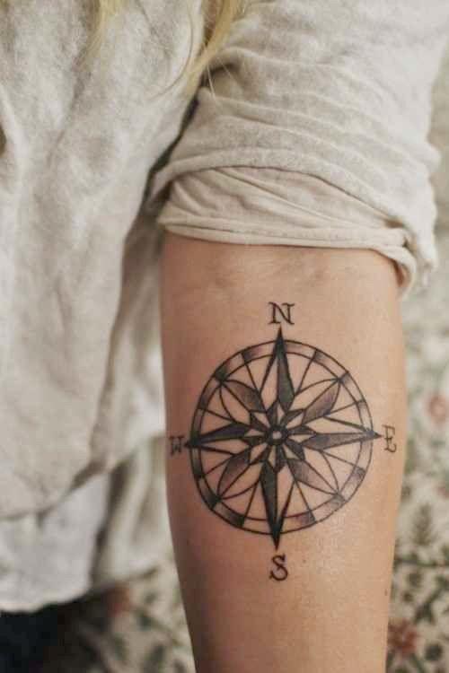 15 Kompass-Tattoo-Designs für Männer und Frauen | Kompass