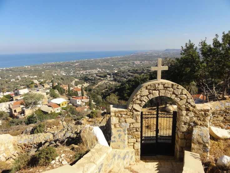 the church of profitis ilias on the top of the hill in maroulas village of rethymno
