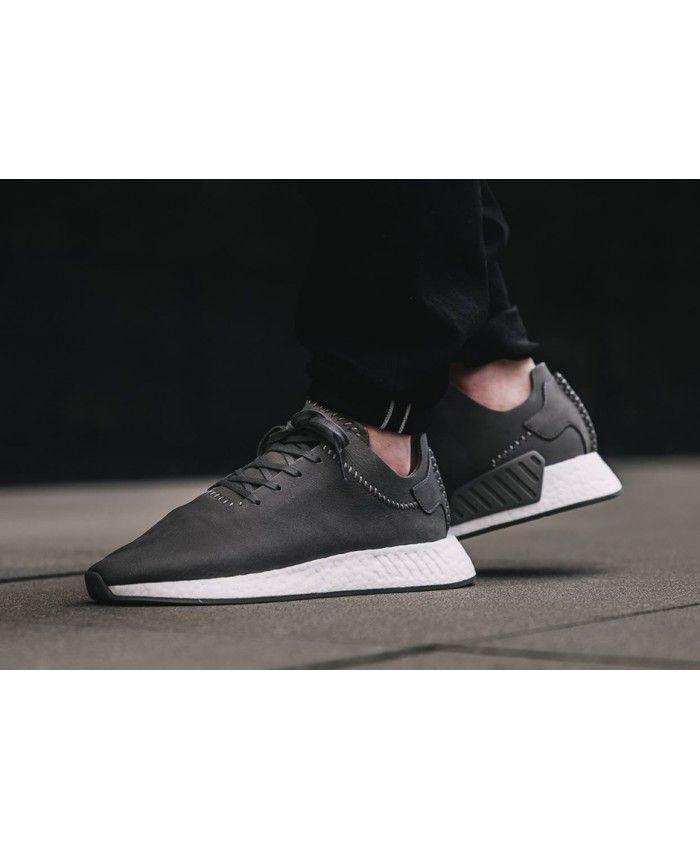 05b62a86b9bb7 Adidas Nmd R2 Dark Grey Dark Grey Ftw White trainers for cheap ...