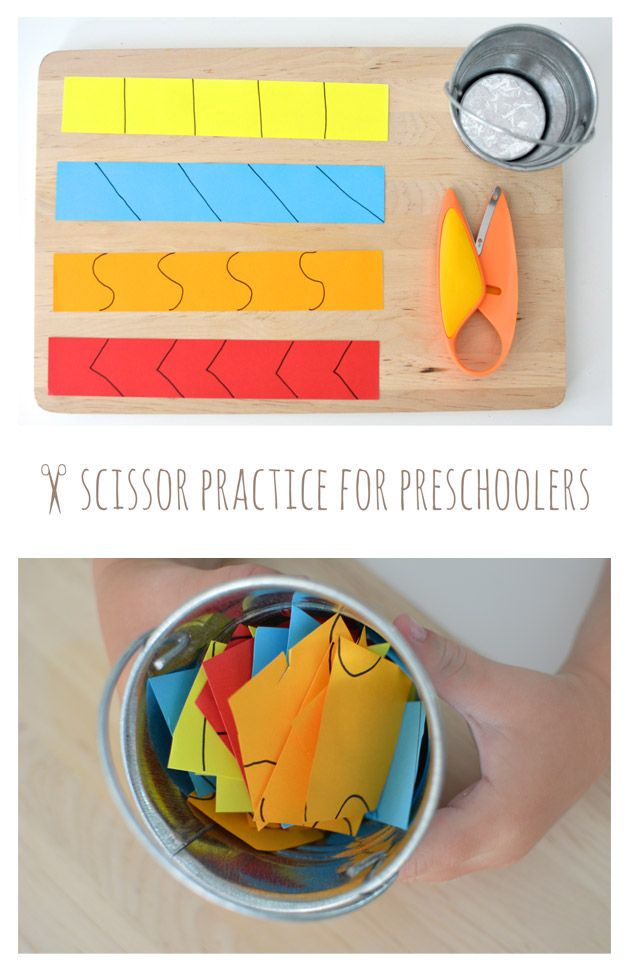 Scissor Practice for Preschoolers... One of those magical activities that captivate young ones!
