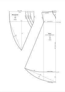 frühes Mittelalter | Die Gewand-Sammlung Bliaut construction pattern, sleeve variations and body construction