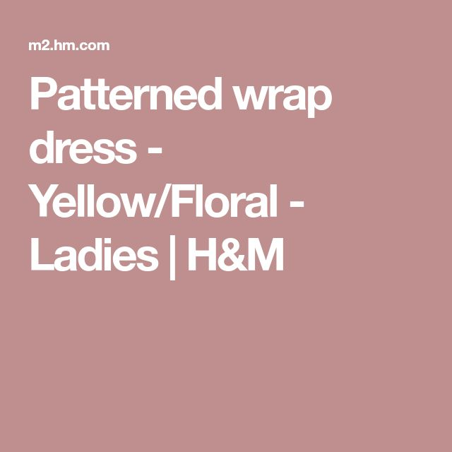 Patterned wrap dress - Yellow/Floral - Ladies | H&M