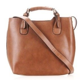 4you2wear Cognac lederen handtas Paula