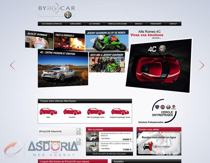 Asdoria Web Agency a réalisé le site vitrine Alfa Romeo Bymy)car - un site né du partenariat entre le concessionnaire automobile Bymy)car et la marque Alfa Romeo. www.alfa-bymycar.fr