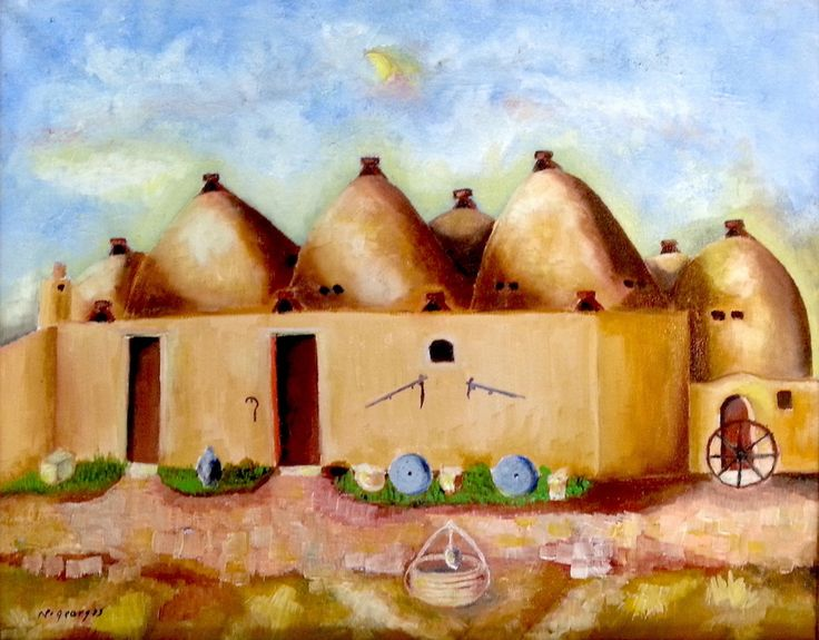 Clay houses - Syria - Nasri Georges Art