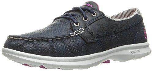 Skechers Performance Women's Go Step Shore Boating Shoe, Navy/White, 11 M US *** Check out this great product.