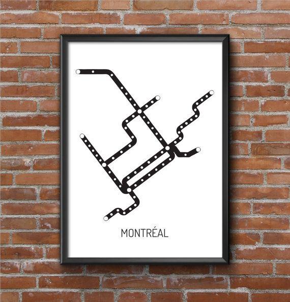 Subway montreal map
