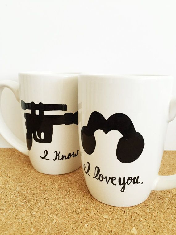 Star Wars Mug, I Love You I Know, Nerdy Gifts, Nerd Couples, Princess Leia Han Solo Mug, Geek Gifts, Gifts For Geeks
