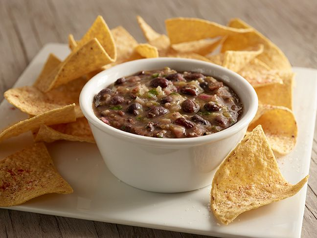 BLACK BEANS: Roasted tomatillo and green chili salsa with black beans ...