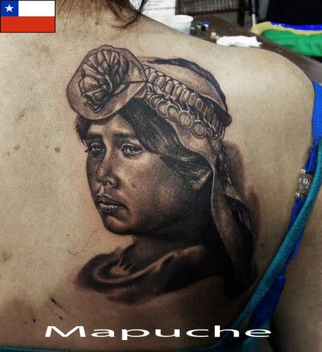 Tattoo Care e tintas MASTER'S INK - A tattoo feita nas costas. índia MAPUCHE, tradicional do Chile Saludos CHILE.. DALLIER - Fotolog