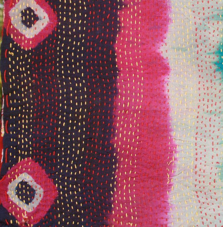 kantha silk shawl