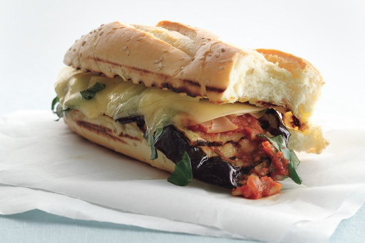 ... Eggplant parmigiana sandwich! on Pinterest | Michael symon, Sandwiches