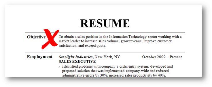 Killer resume objective examples