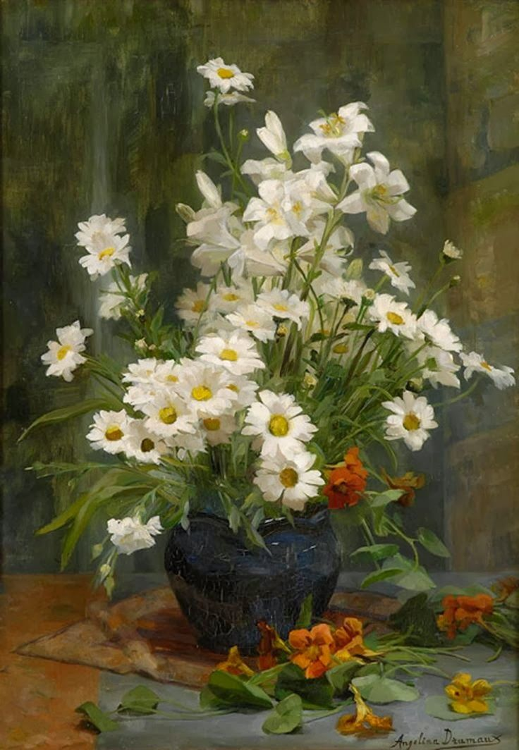 White Asters. Artist: Angelina Marie Drumaux (1881-1959).