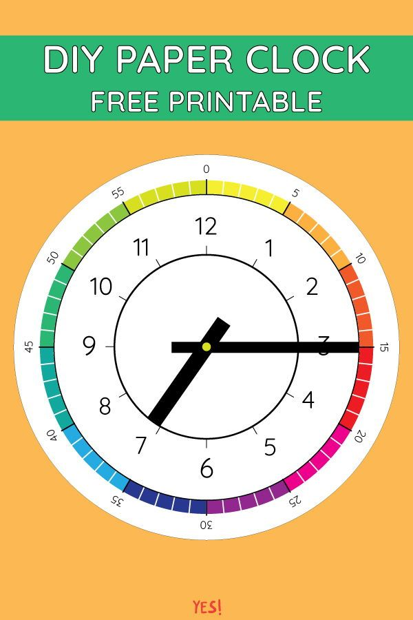 It is a photo of Printable Clock Template with worksheet