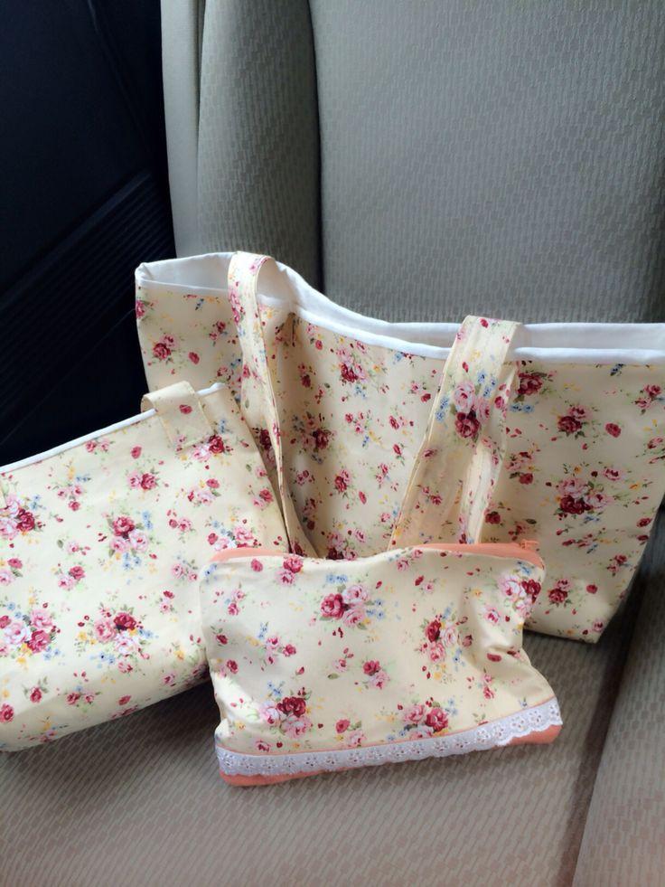 #floral handmade bag ,my 1st handmade bag