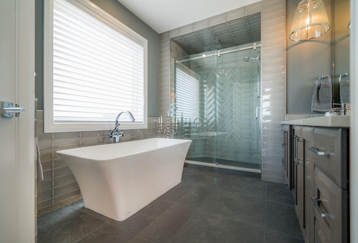 Amazing tile throughout the en-suite bathroom