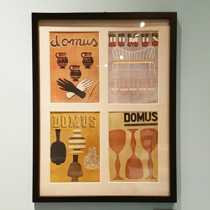 "Italian artist 'Piero Fornasetti' exhibition [covers of ""Domus"" magazine]"