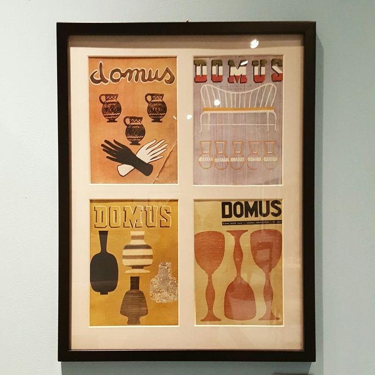 "Italian artist 'Piero Fornasetti' exhibition [covers of ""Domus"" magazine]"