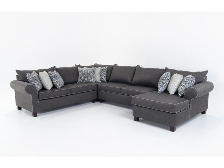 Ashton 4 Piece Left Arm Facing Sectional Living Roomssectional Sofasliving