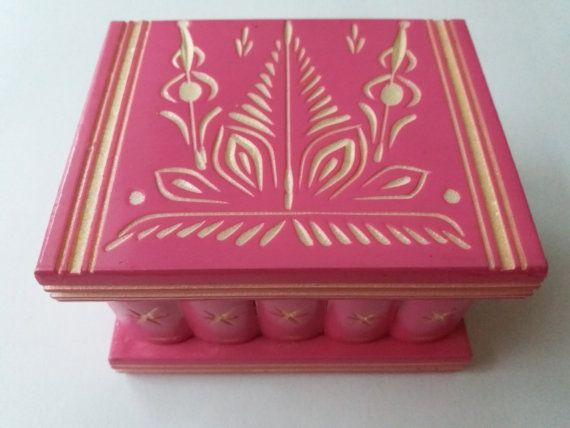 Nouveau mignon fait à la main rose en bois puzzle magique secret surprise boîte barbie, jouet, boîte à bijoux porte bague Assistant mystey, caisse en bois, cadeau