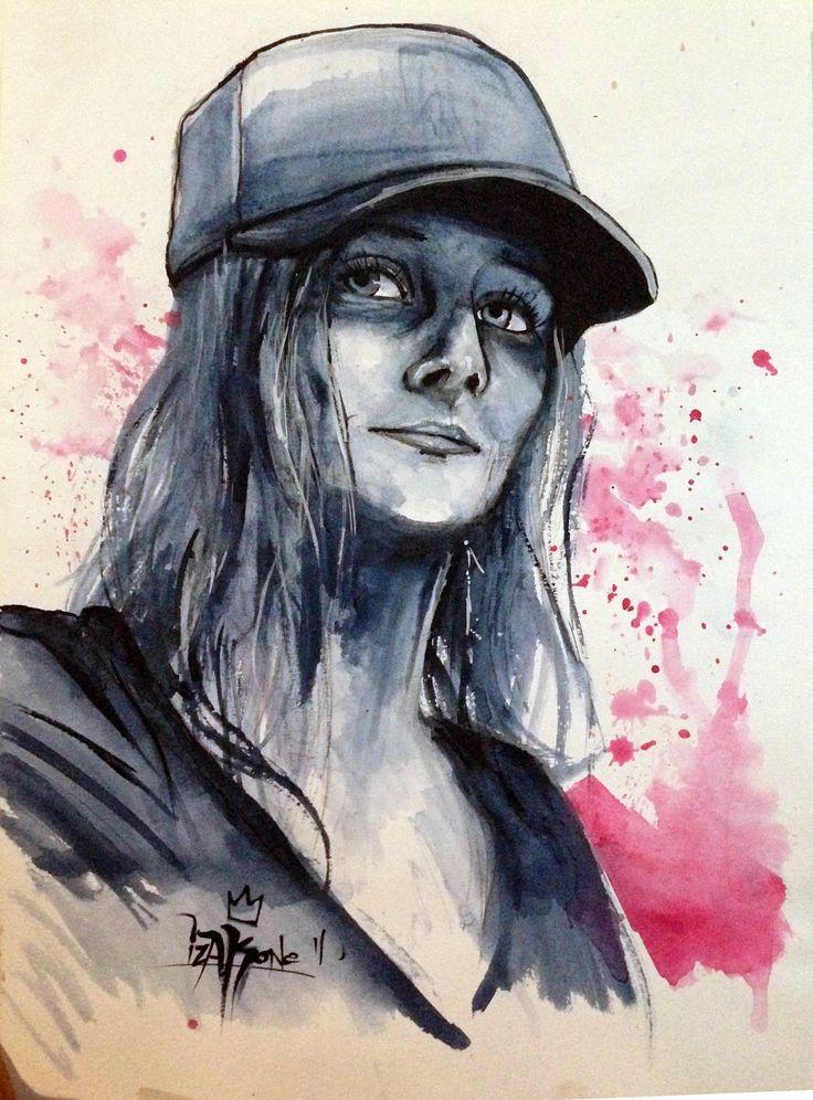 Ingrid Aulik by izak one, graffiti artist