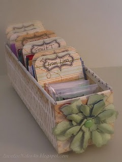 The organized tea box - with tutorial. Simple, pretty, perfect for a tea party. (from original source)