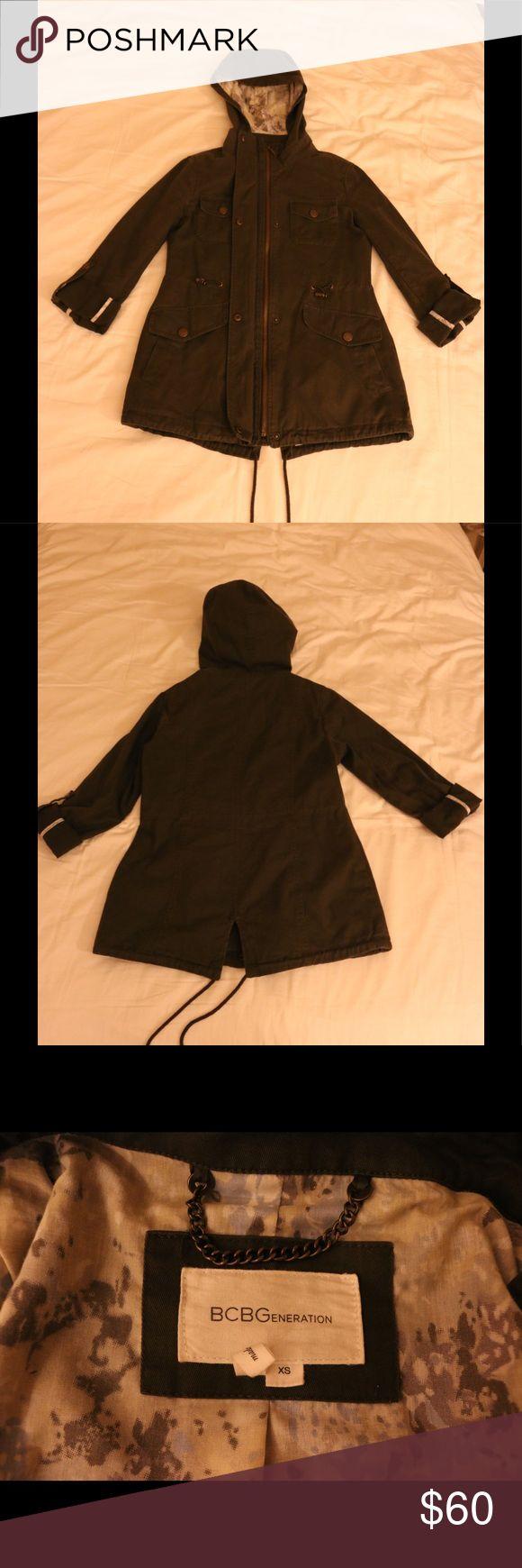 BCBGeneration army green jacket BCBGeneration army green jacket. Worn a few times, in good condition. BCBGeneration Jackets & Coats