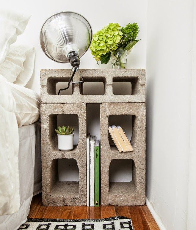 block bed side table
