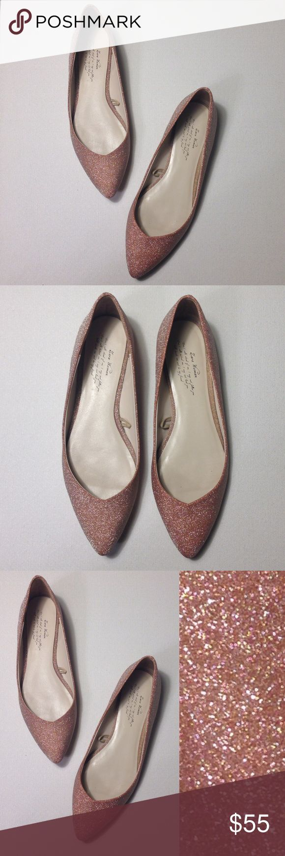 Zara Light Pink Sparkle Ballerina Flats Zara Light Pink Sparkle Ballerina Flats. Zara Size 38. Excellent Pre-Worn Condition. No Visible Stains, Fading or Flaws. Retail $89.90 #0219173501 ✨Please keep in mind that measurements are provided only as a guide and are approximate. Color appearance may vary depending on your monitor settings. Zara Shoes Flats & Loafers